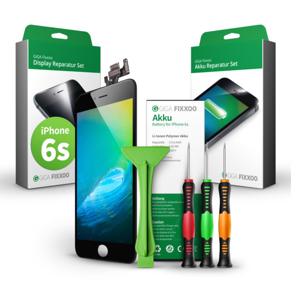 iPhone 6s Display & Akku Reparaturset im Bundle