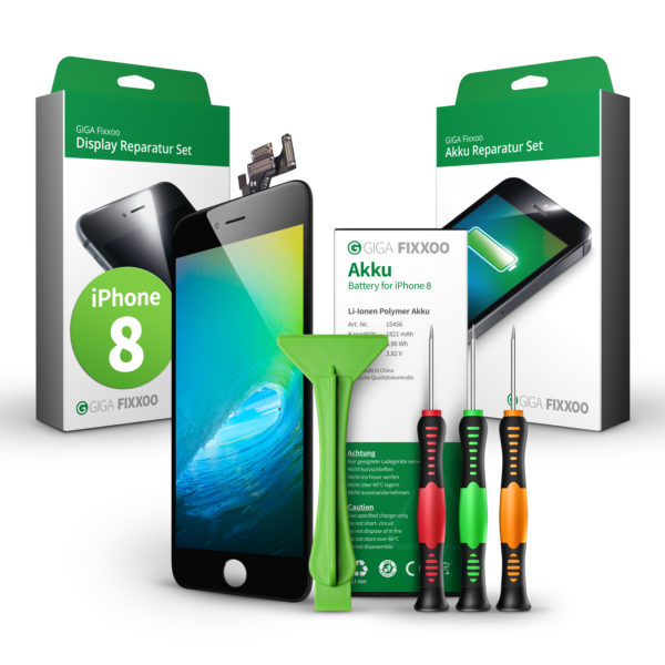 iPhone 8 Display & Akku Reparaturset im Bundle